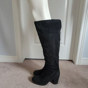 Born Knee High Suede Leather Boots